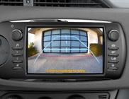 Tahavaatekaamera kuva multimeedissüsteemi ekraanil