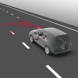 Sõidurajalt lahkumise hoiatussüsteem koos rooli korrigeerimisega