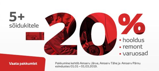 Tallinnas, Tartus ja Pärnus 5+ autode hooldus -20%