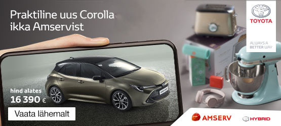 Uus Corolla võta ikka Amservist!
