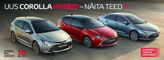 Uus Corolla Hybrid näitab teed